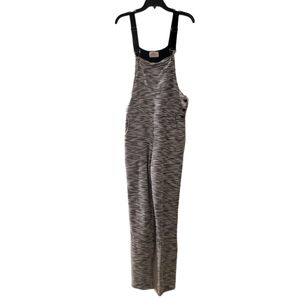 Moon Womens Gray Black Tweed Knit Jump Suit M